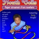 25' MOUTH COILS 12 Paper Streamers Magic Tricks Clown Set Pack Multi Color Funny