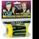 CAUTION MEN DRINKING TAPE Police Bachelor Party Gag Joke Prank 100 Feet Ft Roll