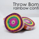 6 Pack THROW BOMB Jumbo Streamer Rainbow Paper Launch Stage Magic Trick Coil Set