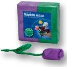 NAPKIN TO ROSE REFILLS Purple Green Flower Magic Trick 50 Pack Set Refill Clown
