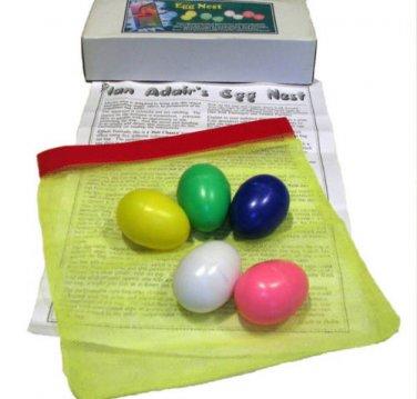 ADAIRS EGG NEST Mesh Net Bag Magic Trick Change Mental Prediction Stage Plastic