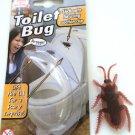SUCTION CUP RUBBER TOILET BUG ROACH Cockroach Fake Prank Joke Gag Sticks To Seat