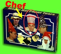CHEF HAT PAPER TEAR Magic Trick Kid Show Restore 12 Set Comedy Tissue Tears Gag