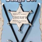 WESTERN COWBOY STRING TIE BADGE SET Old West Costume Adult Cowgirl Sheriff Star
