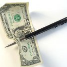 METAL PENETRATING PEN THRU ANYTHING Dollar Bill Magic Trick Penetration Money