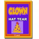 CLOWN HAT PAPER TEAR Magic Trick Kid Shows Restore 12 Set Birthday Comedy Tissue