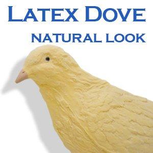PRO REALISTIC FAKE RUBBER DOVE White Bird Pigeon Latex Prop Magic Trick Gag Joke