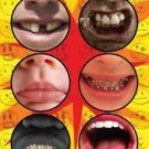 6 FUNNY BOTTOM CUP STICKERS Prank Joke Billy Bob Paper Faces Mouth Teeth Bottle