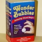 WONDER BUBBLES Clear Glass Ball Magic Trick Clown Kid Show Soap Changes Solid