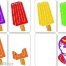 ADAIRS JOLLY LOLLIES Jumbo Size Cards Magic Trick Stage Kid Ice Popsicle Clown
