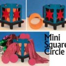 MINI SQUARE CIRCLE Box Tube Wood Kid Magic Trick Production Beginner Clown Prop