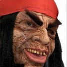 RAM ROD PIRATE MASK Scary Rubber Latex Costume Cloth Red Cap Halloween Hair Wig