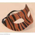 TIGER HALF MASK Animal Stripes Print Masquerade Zoo Adult Halloween Costume Cat