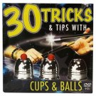 30 TRICKS & TIPS CUPS AND BALLS + DVD COMBO Magic Close Up Set Kit Magician Toy