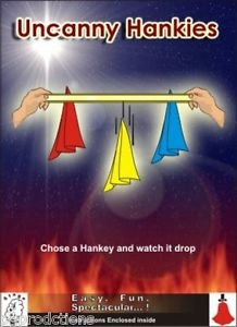 UNCANNY HANKIES Silks Scarf Hanky Magic Trick Ribbon Drop Off at your Command