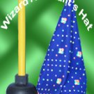 COMEDY WIZARD ASSISTANT TOILET PLUNGER HAT Magic Trick Kid Clown Cone Cap Joke