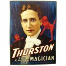 HOWARD THURSTON PAPER CANVAS POSTER The Great Magician Magic History Illusion
