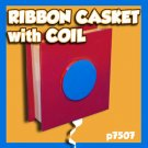 RIBBON CASKET FLIP OVER BOX Streamer Paper Magic Trick 1 Hat Coil Production Gag