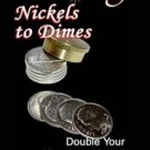 Deluxe ROYAL NICKELS TO DIMES TRICK Brass Coin Magic Locking Changing Beginner
