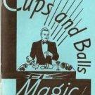 CUPS & BALLS MAGIC BOOK Trick And Tom Osborne Magician Close Up Booklet Secrets