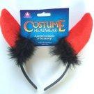 RED DEVIL HORNS ON HEADBAND Halloween Naughty Costume Satan Ears Adult Funny Gag