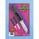 DELUXE LARGE RETRACTABLE KNIFE Prank Joke Gag Trick Fake Weapon Dagger Blade Toy