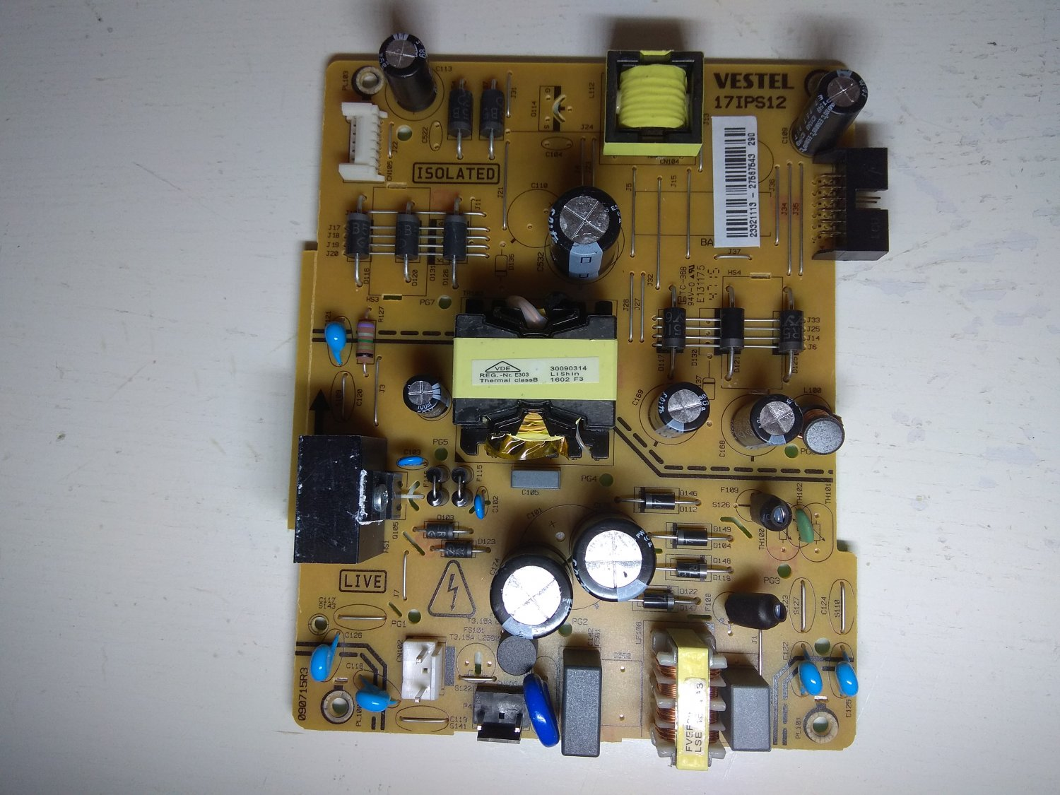 Power Supply Vestel 17IPS12 for LED TV Hitachi 40HE1611FTR