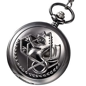 Men�s Mini Black Dragon Analog Quartz Pocket Watch