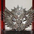 Pre-Owned Rock Rebel Silver Tone 2 Pistol  Belt Buckle