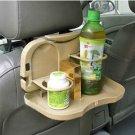 Car Travel Food Tray-Tan