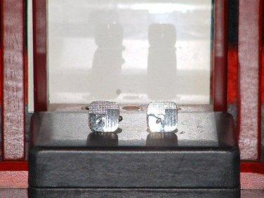 Men�s Retro Diamond Cut Etched Pre-Owned Silver Tone Cufflinks