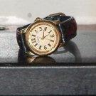 Women's Gold & Black Guess Quartz Analog Watch