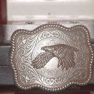 Pre-owned Silver Tone Heavy Eagle Belt Buckle