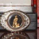 Pre-Owned Vintage 24kt Gold Plated Bald Eagle Belt Buckle