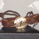 Vintage Style Adjustable Scorpio Cow Leather Bracelet