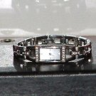 Pre-Owned Women's Fossil Silver Rhinestone Stainless Steel Band Quartz Watch