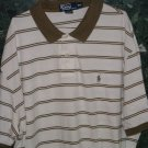 Pre-Owned  XXL Polo Green & White Polo Color Shirt