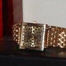 Women's Gold Tone Lane Bryant Leopard Skin Print Date 90791 Fashion Analog Quart