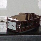 Pre-Owned Women's Brown & Silver Dress Analog Quartz Watch