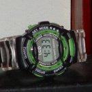 Pre-Owned Boy's Black & Green Digital Watch