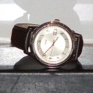 Pre-Owned Men's Timex Silver and Gold Brown Band Date Quartz Watch