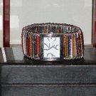 Pre-Owned Women's Fashion Multi Color Handmade Band Beaded Analog Quartz Watch