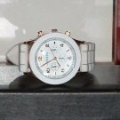 Pre-Owned Women's Geneva White & Gold Silicone Band Fashion Analog Watch