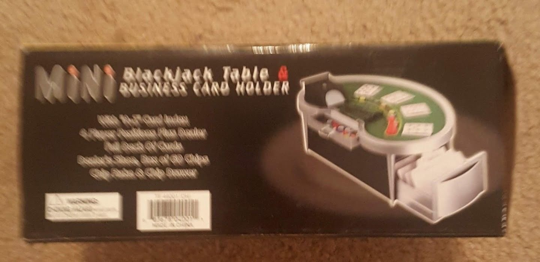 New Mini Blackjack Table Business Card Holder