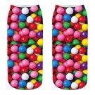 Funny Food Novelty Kawaii Boat Socks Snacks Candy Donuts Printed Cute Men's Women's Booties