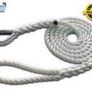 "5/8"" X 10' Three Strand Mooring Pendant 100% Nylon Rope with Thimble. (Tensile Strength 10400 Lbs.)"