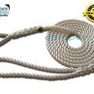 "1/2"" X 12' Three Strand Mooring Line 100% Nylon Rope with Thimble. (Tensile Strength 6700 Lbs.)"