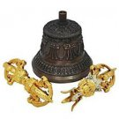 Tibetan Buddhism Bell With Vajra by Vedic Vaani