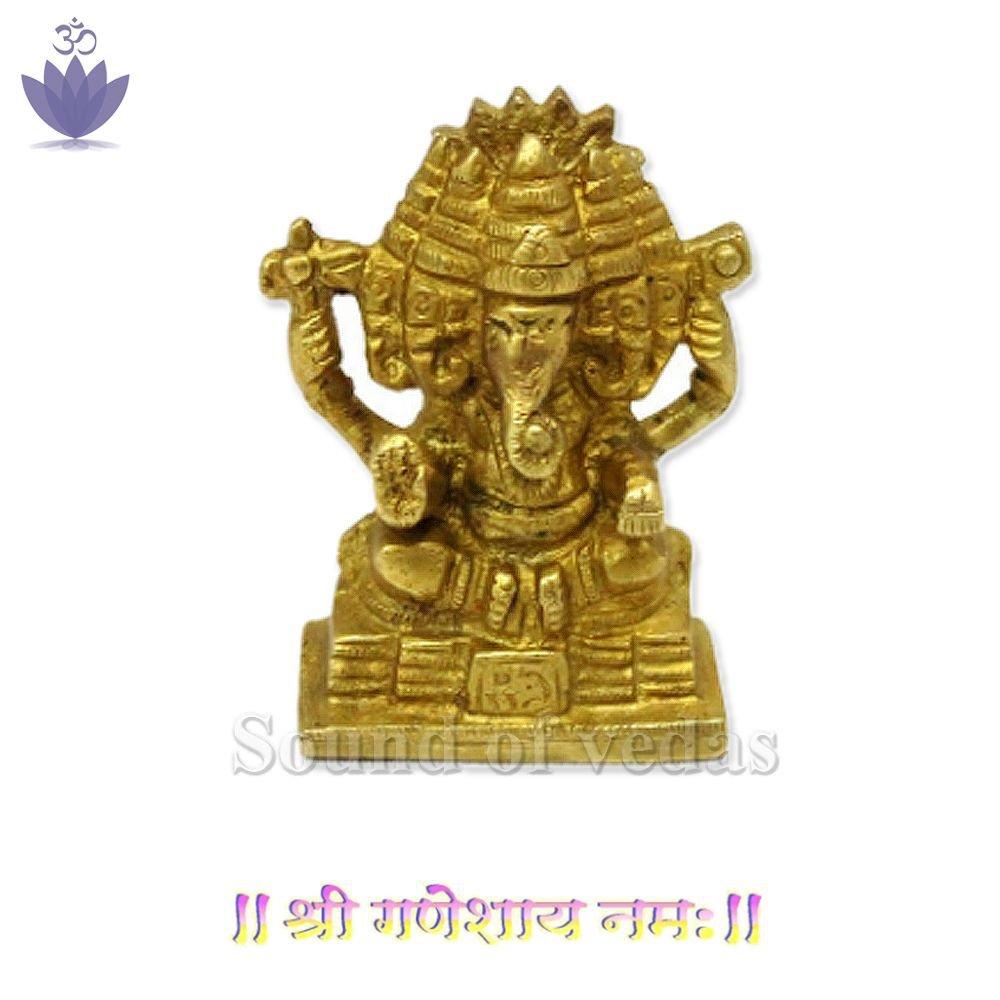 Panchmukhi Lord Ganesha Brass Idol IN STOCK