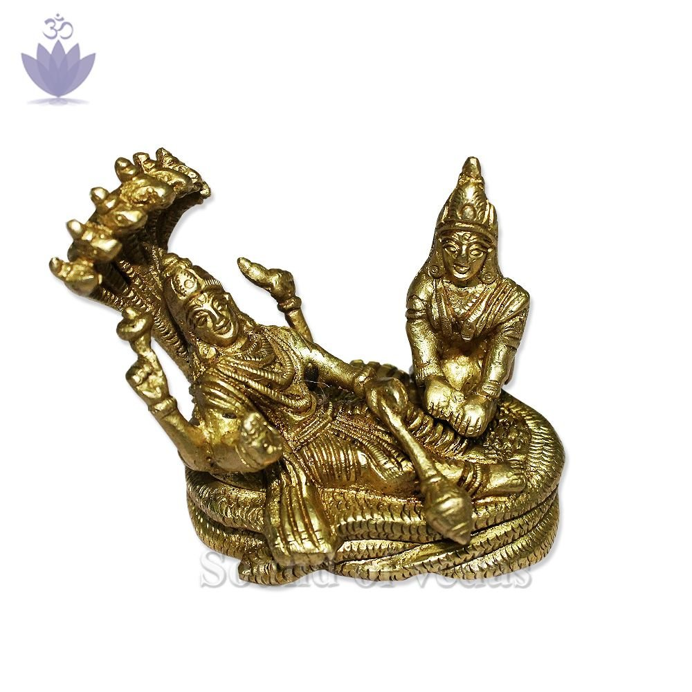 God Vishnu and Lakshmi seating on Sheshnag